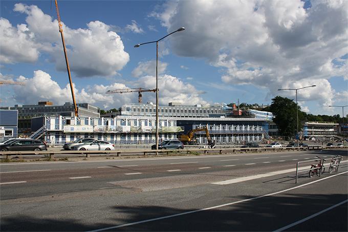 Albano Stockholm; Invändig målning av Campus, salar och kontor