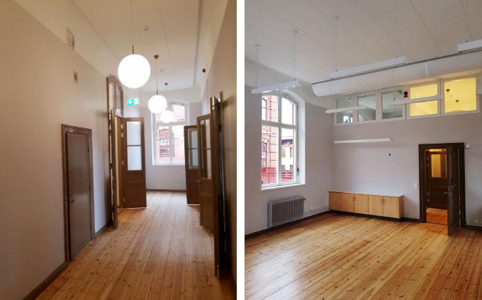 Invändig målning Skola i Stockholm - hall, klassrum