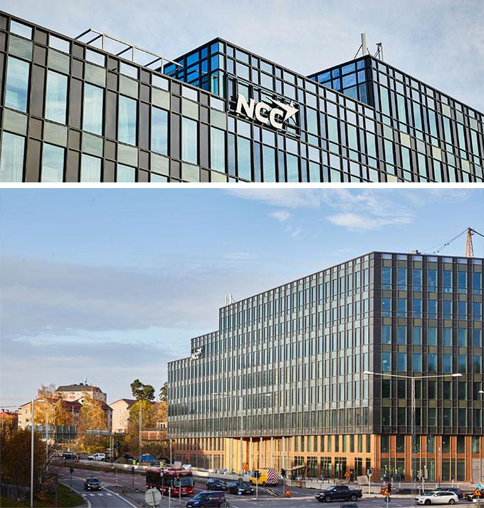 Headquarters Solna ; Ncc:s nya huvudkontor i Solna- Invändig målning av kontor