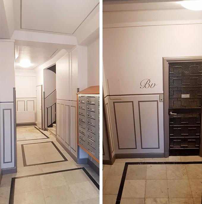 Bergsundsstrand renovering av Lägenheter och trapphus åt Le Hellstedt